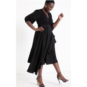 NWT Eloquii black wrap dress size 18